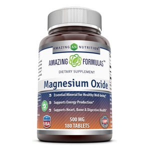 Amazing Formulas Magnesium Oxide 500 Mg 180 Tablets