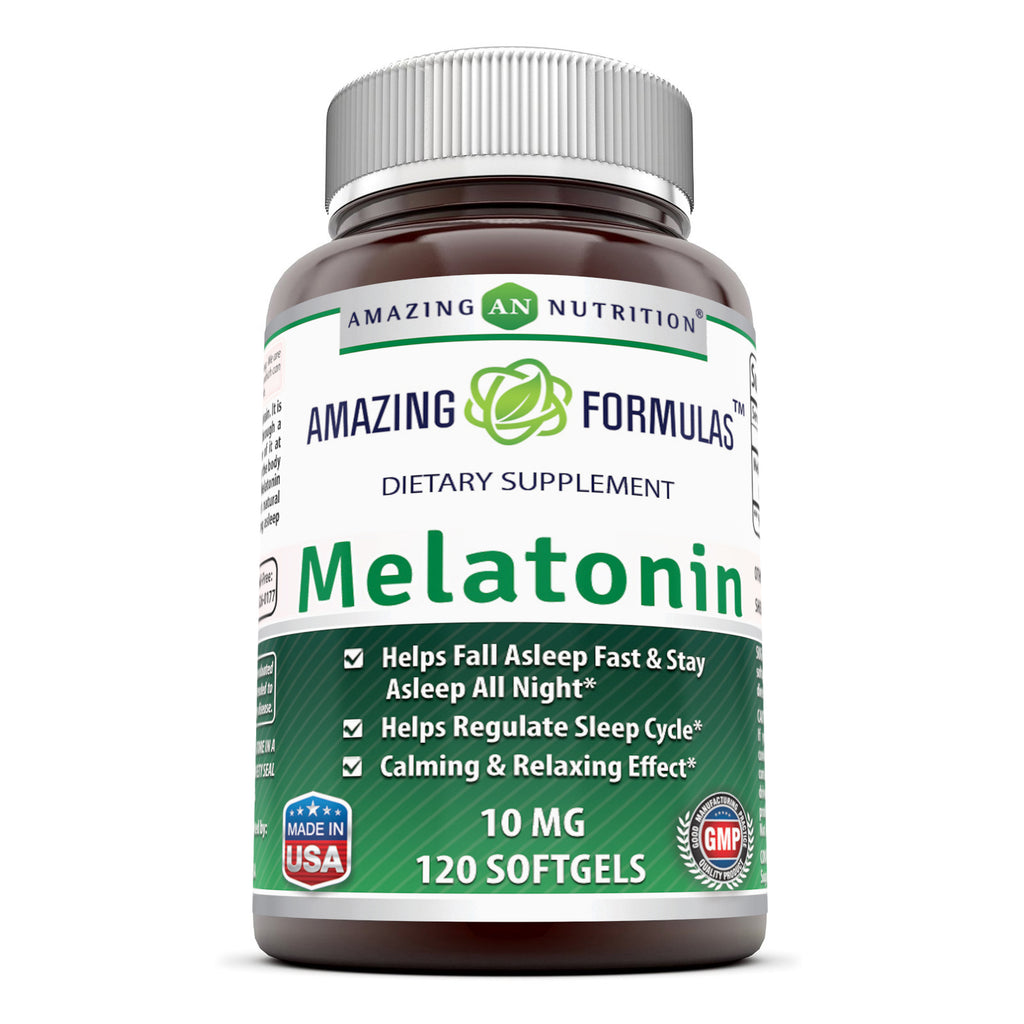 Amazing Formulas Melatonin 10 Mg 120 Softgels