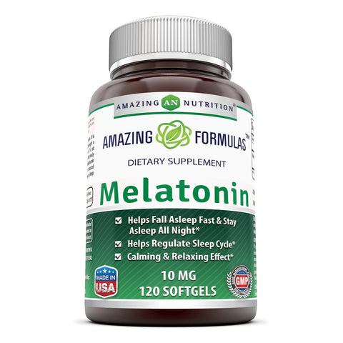 Image of Amazing Formulas Melatonin 10 Mg 120 Softgels