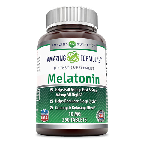 Amazing Formulas Melatonin 10 Mg 250 Tablets