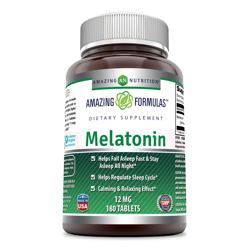 Amazing Formulas Melatonin 12 Mg 180 Tablets