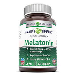 Amazing Formulas Melatonin 20 Mg 60 Tablets - Amazing Nutrition