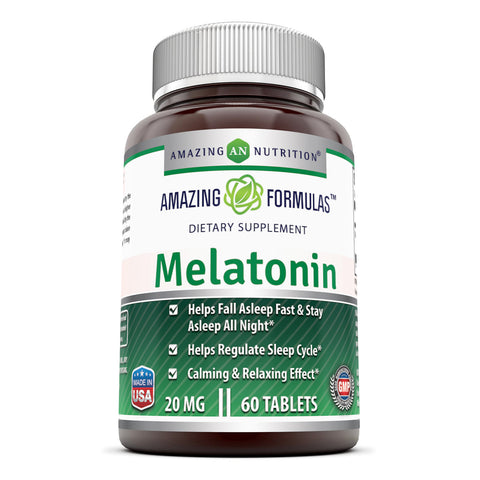 Image of Amazing Formulas Melatonin 20 Mg 60 Tablets - Amazing Nutrition