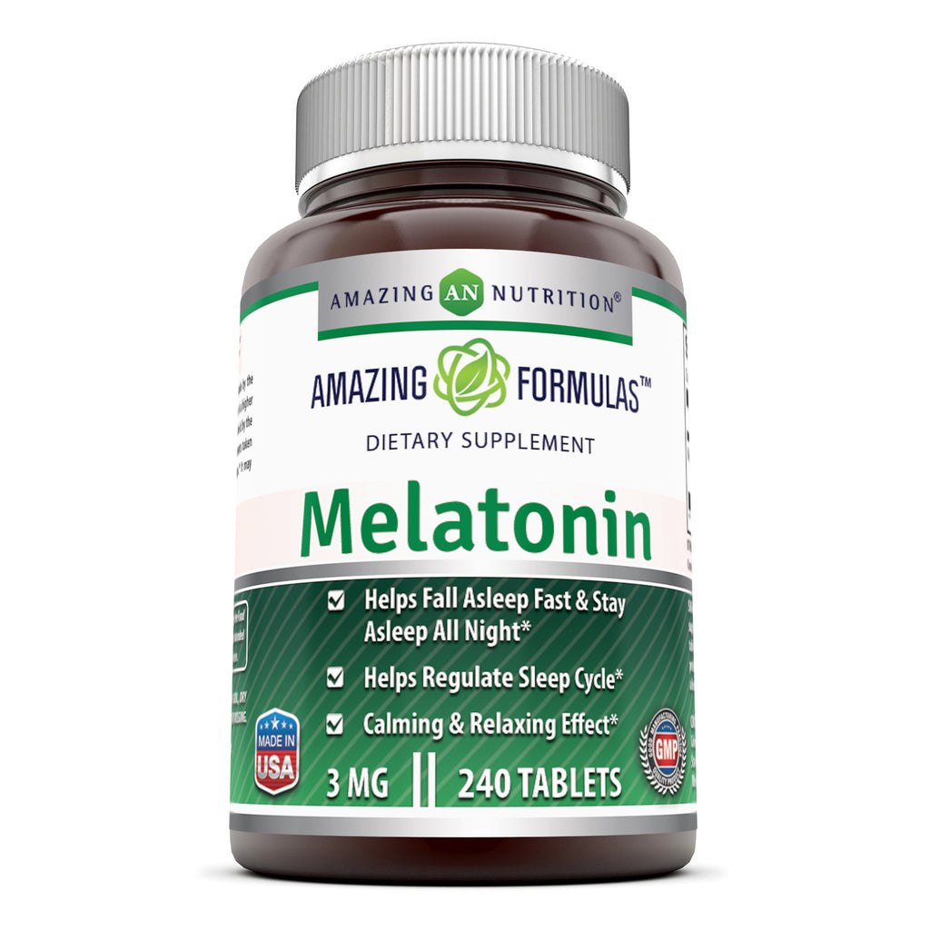 Amazing Formulas Melatonin 3 Mg 240 Tablets