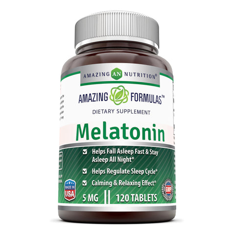Amazing Formulas Melatonin 5 Mg 120 Tablets