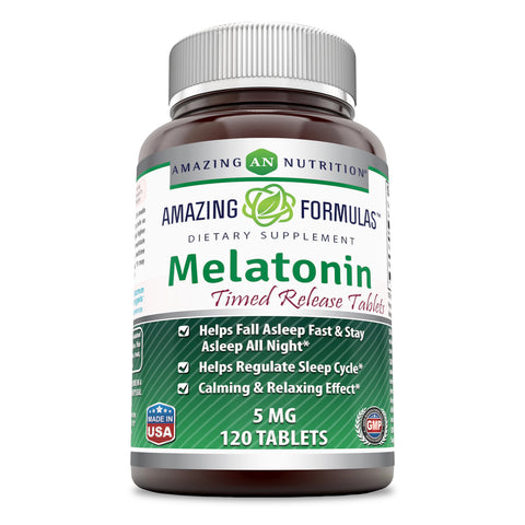 Amazing Formulas Melatonin Timed Release 5 Mg 120 Tablets