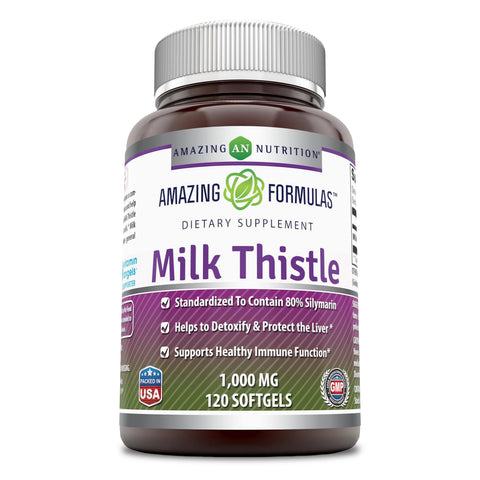 Image of Amazing Formulas Milk Thistle 1000 Mg 120 Softgels
