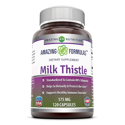 Image of Amazing Formulas Milk Thistle 175 Mg 120 Capsules