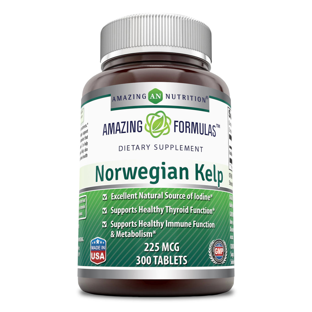 Amazing Formulas Norwegian Kelp 225 Mg 300 Tablets