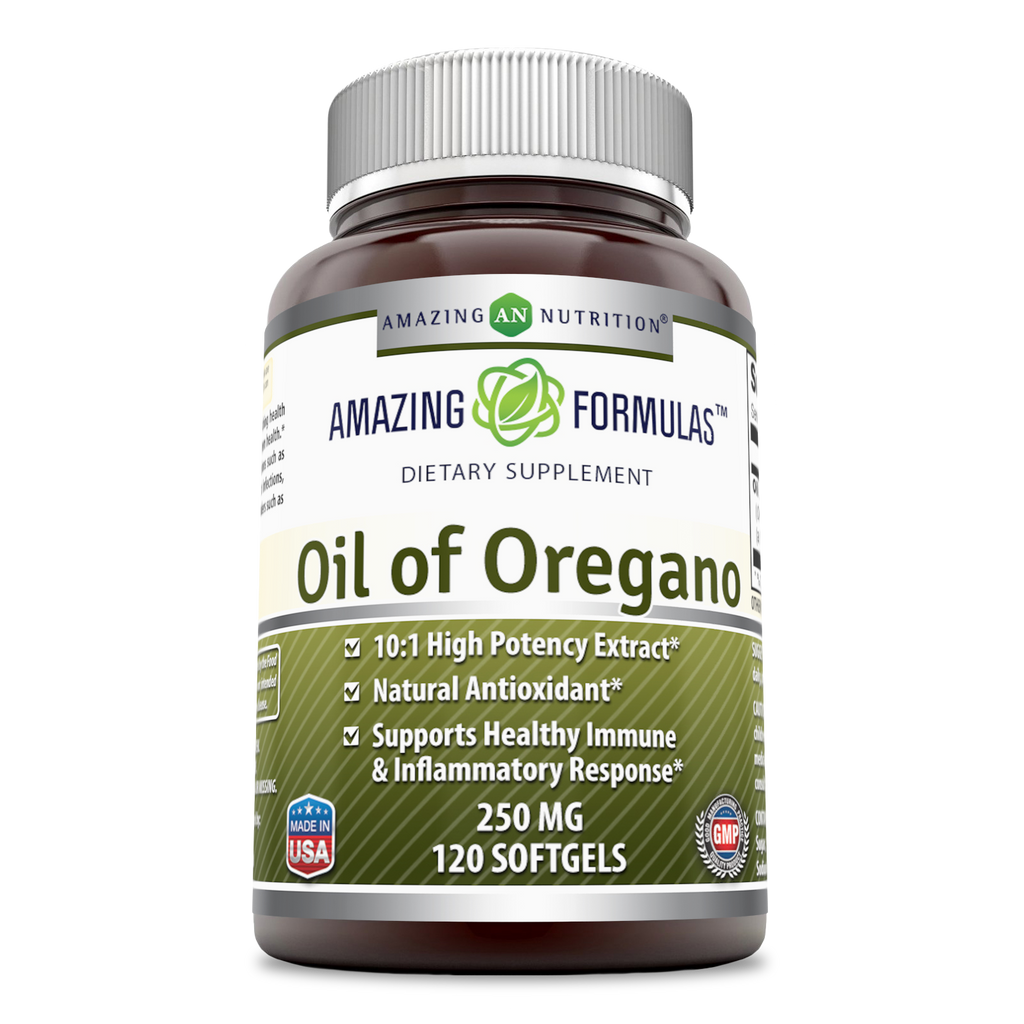 Amazing Formulas Oil of Oregano Dietary Supplement 250 Mg 120 Softgels - Amazing Nutrition