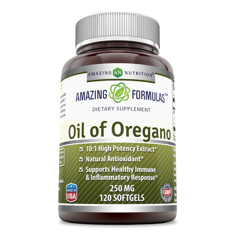 Image of Amazing Formulas Oil of Oregano Dietary Supplement 250 Mg 120 Softgels - Amazing Nutrition