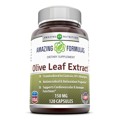 Amazing Formulas Olive Leaf Extract - 150mg, 120 Capsules Per Bottle