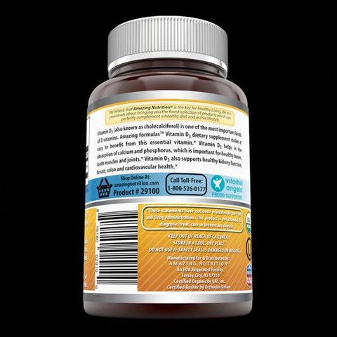 Image of Amazing Formulas Organic Vitamin D3 2000 IU 360 Certified Organic Tablets
