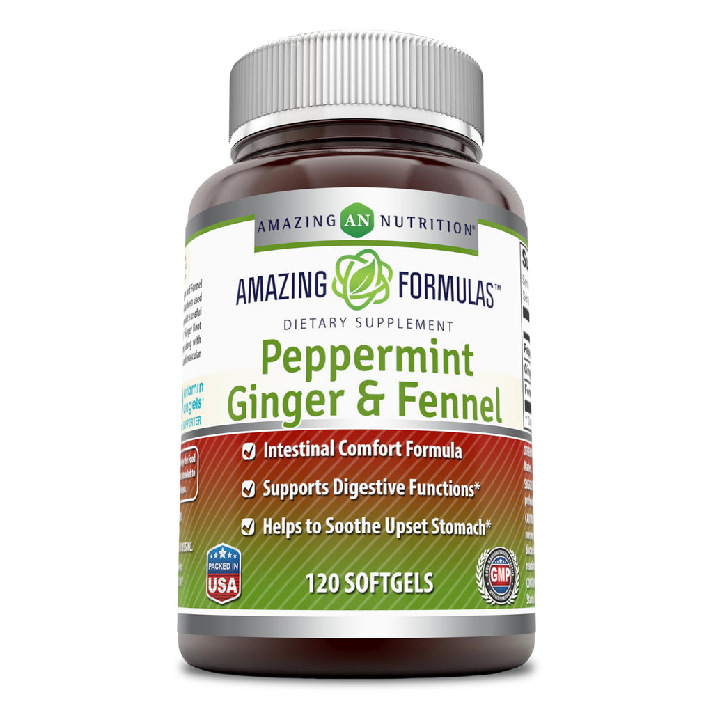 Amazing Formulas Peppermint Ginger & Fennel 363 Milligrams 120 Softgels