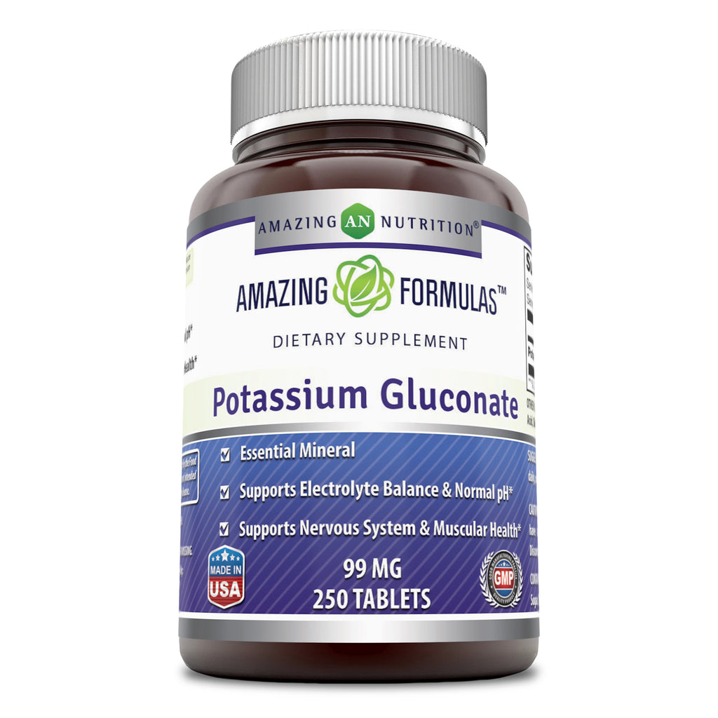 Amazing Formulas Potassium Gluconate 99 Milligrams 250 Tablets
