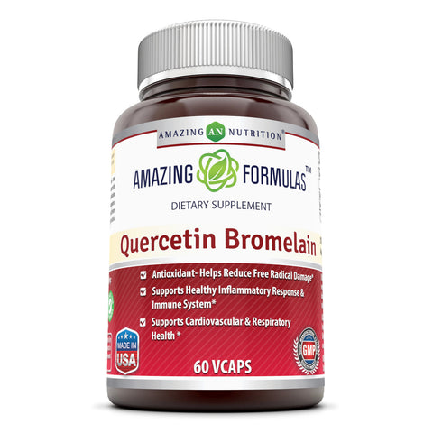 Amazing Formulas Quercetin 800 Mg With Bromelain 60 Mg Vegetarian Capsules