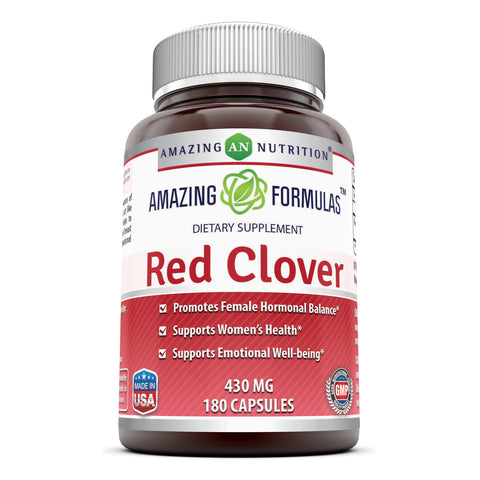 Image of Amazing Formulas Red Clover 430 Mg 180 Capsules