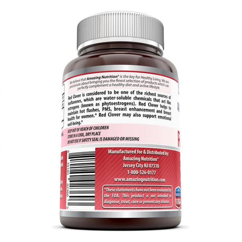 Image of Amazing Formulas Red Clover 430 Mg 180 Capsules - Amazing Nutrition
