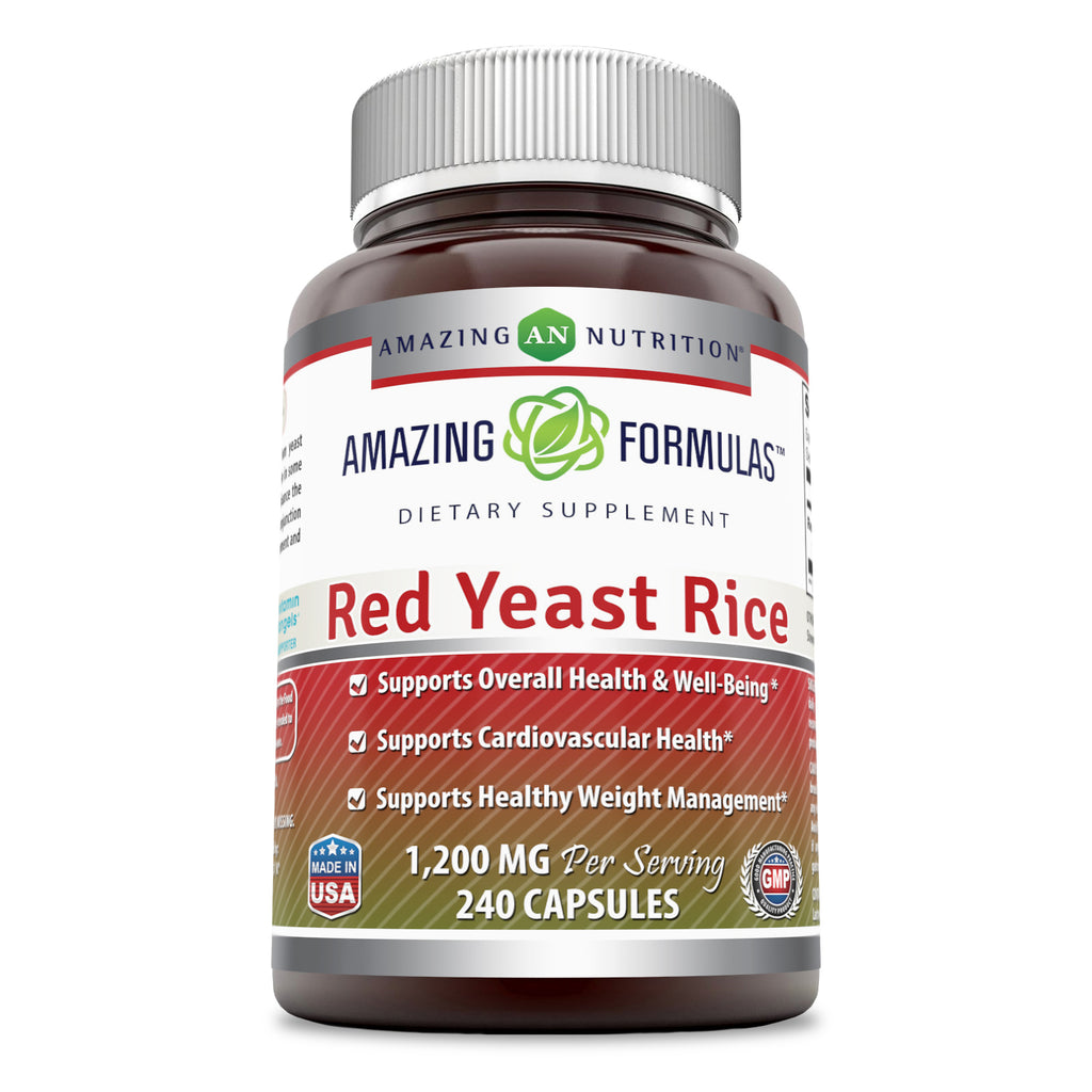 Amazing Formulas Red Yeast Rice 1200 Mg 240 Capsules