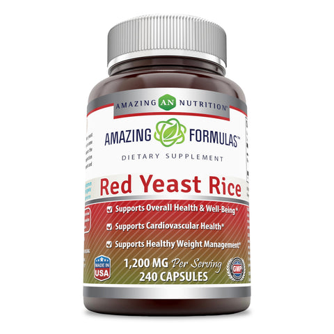 Image of Amazing Formulas Red Yeast Rice 1200 Mg 240 Capsules