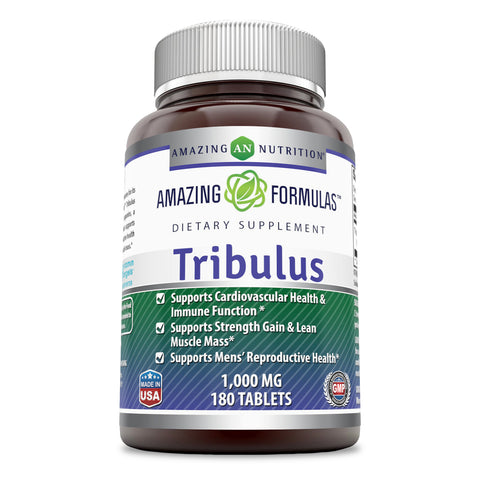 Amazing Formulas Tribulus Dietary Supplement 1000 MG 180 Tablet