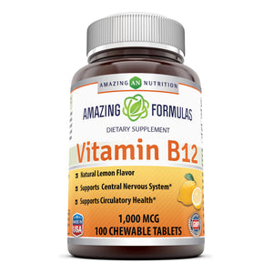 Amazing Formulas Vitamin B12 1000 Mcg 100 Chewable Tablets