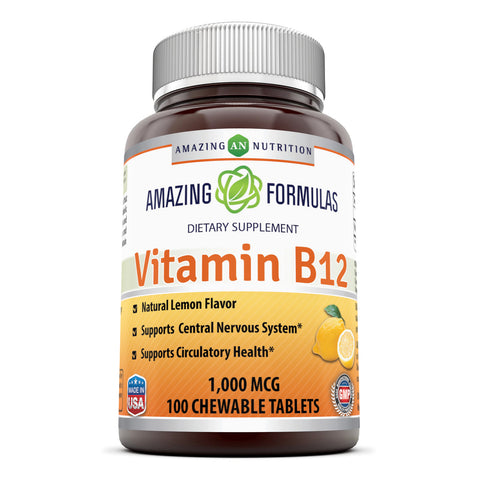 Image of Amazing Formulas Vitamin B12 1000 Mcg 100 Chewable Tablets