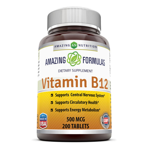 Amazing Formulas Vitamin B12 500 Mcg 200 Tablets