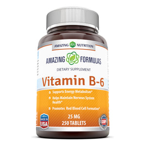 Amazing Formulas Vitamin B6 Dietary Supplement 25 mg 250 Tablets