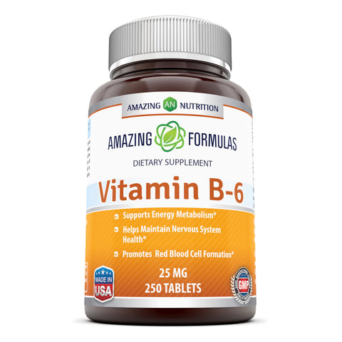 Image of Amazing Formulas Vitamin B6 25 Mg 250 Tablets
