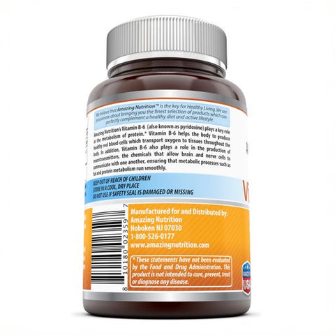Image of Amazing Formulas Vitamin B6 Dietary Supplement 25 mg 250 Tablets