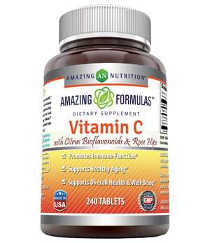 Amazing Formulas Vitamin C With Citrus Bioflavonoids & Rose Hips 240 Tablets
