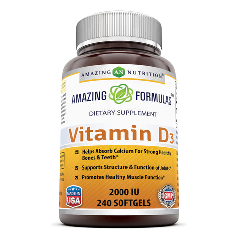 Image of Amazing Formulas Vitamin D3 2000 IU 240 Softgels