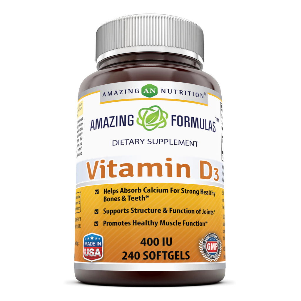 Amazing Formulas Vitamin D3 400 IU 240 Softgels
