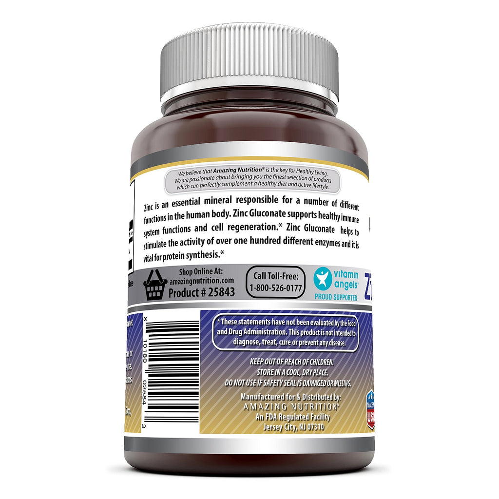 Amazing Formulas Zinc Gluconate - 50 mg, 250 Tablets
