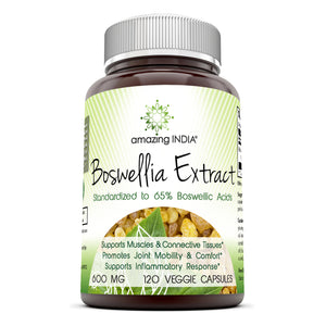 Amazing India Boswellia Extract 600 mg 120 Vegetarian Capsules