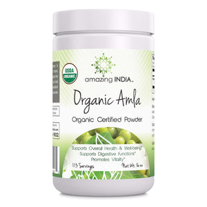 Amazing India USDA Certified Organic Amla Powder (Non-GMO) 16 oz