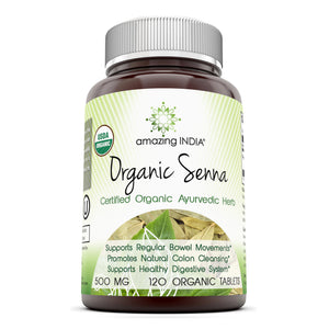Amazing India Organic Senna 500 Mg 120 Organic Tablets
