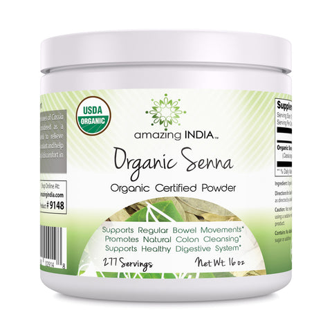 Image of Amazing India USDA Certified Organic Senna Powder 16 oz