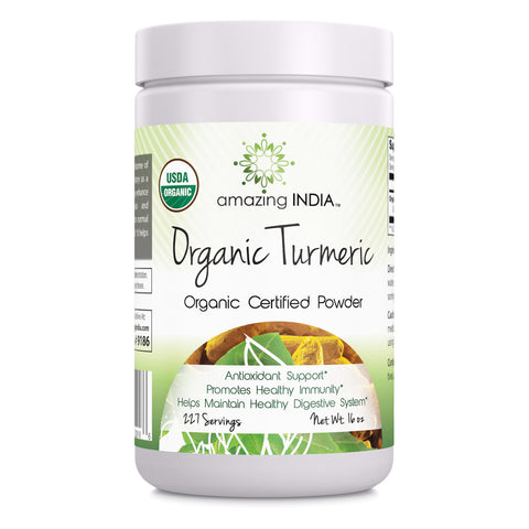 Amazing India Organic Turmeric Powder 16 Oz