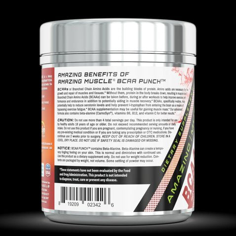Image of Amazing Muscle BCAA PUNCH 30 Servings Fruit Punch