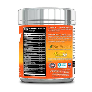 Amazing Muscle Max Boost Advanced Pre-Workout Formula 60 Servings (Orange)