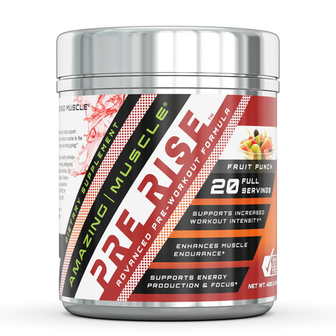 Image of Amazing Muscle - Pre Rise Advanced Pre-Workout Formula - 20 servings (Fruit Punch)