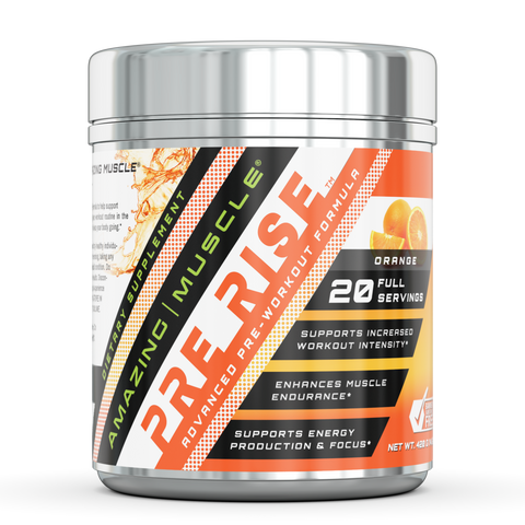 Image of Amazing Muscle Pre Rise Advanced Pre Workout Formula 20 Serving Orange