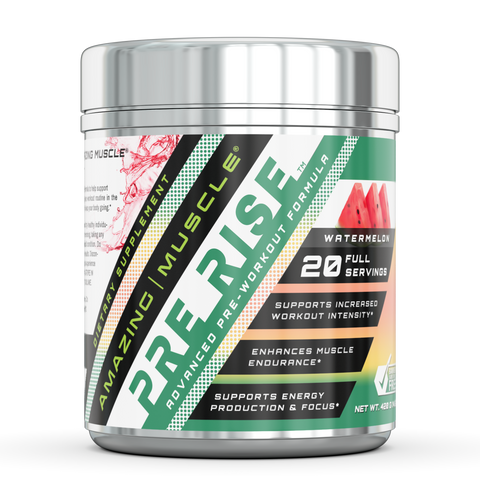 Image of Amazing Muscle Pre Rise Advanced Pre workout Formula 20 Servings Watermelon