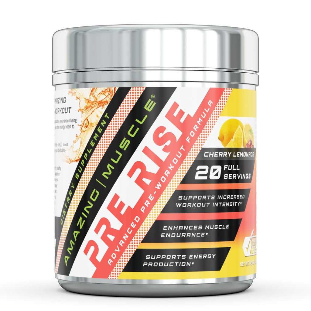 Amazing Muscle Pre Rise Advanced Pre-Workout Formula 20 servings (Cherry Lemonade)