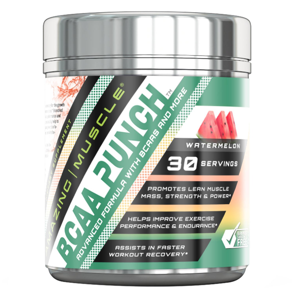 Amazing Muscle BCAA PUNCH 30 Servings (Watermelon)