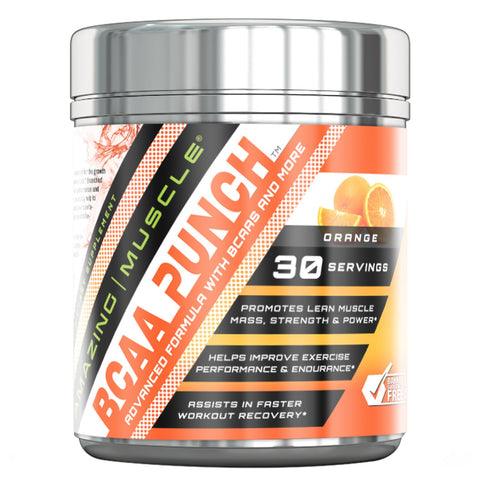 Image of Amazing Muscle - BCAA Punch - 30 Servings (Orange)