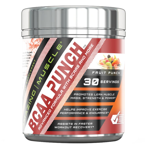 Image of Amazing Muscle BCAA PUNCH 30 Servings (Fruit Punch)