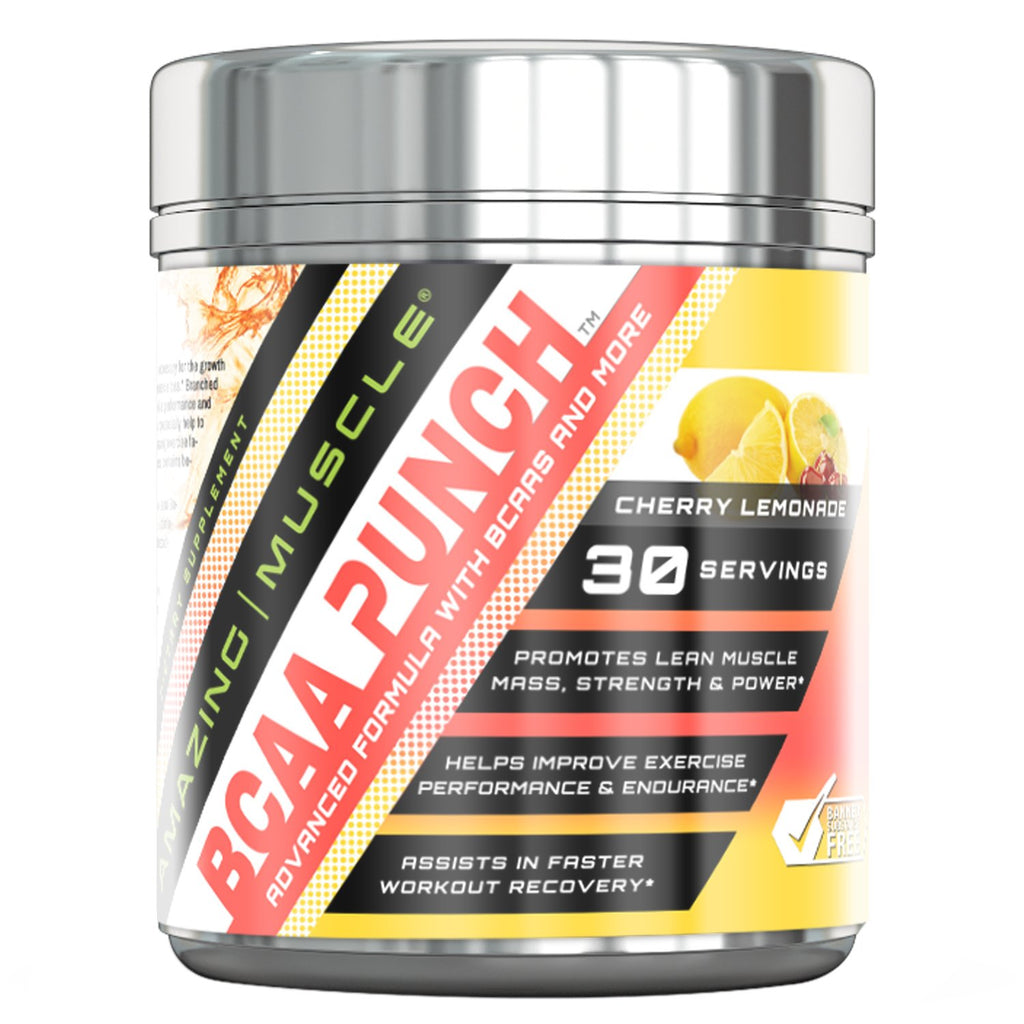 Amazing Muscle - BCAA PUNCH - 30 Servings (Cherry Lemonade)